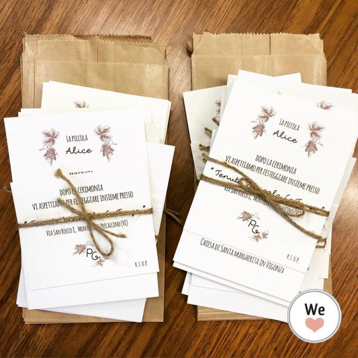 Matrimonio Tema Rustico : Annuncio matrimonio rustico tema vino wedding