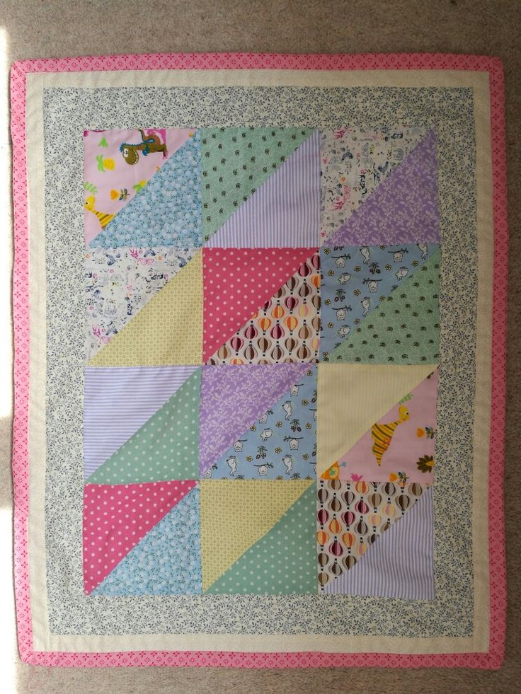 Finished 2 of these for twins!!! Patchwork front with fleece and rainbow thread back.