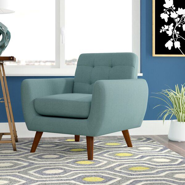 Craig 33 W Tufted Polyester Blend Armchair Furniture Mid Century Modern Accent Chairs Armchair
