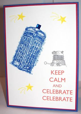 Colinna Huth - Independent Stampin' Up Demonstrator Australia. I had a bit of a play with the Feeling Sentimental stamp set. I know it's not the TARDIS but it was still fun!!