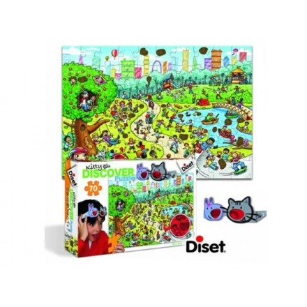 68922 - Puzzle Kitty, Discover. 70 piezas, Diset.   http://sinpuzzle.com/puzzles-infantiles-72-piezas/590-68922-puzzle-kitty-discover-70-piezas-diset.html