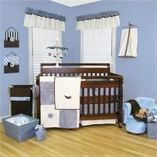 Nautical Nights Baby Crib Bedding Set