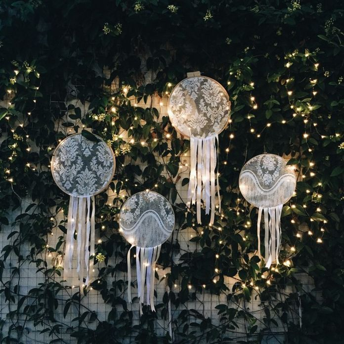 Sparks your night wedding party with beautiful lighting set | http://www.bridestory.com/midnight-sparks/projects/lighting-up-your-wedding