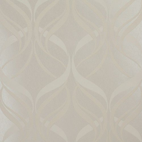 Tört fehér színű, barokkmintás vlies tapéta | FüggönyFutár Webáruház