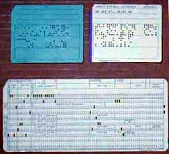 IBM punch cards used during the 1950s - 1960s.