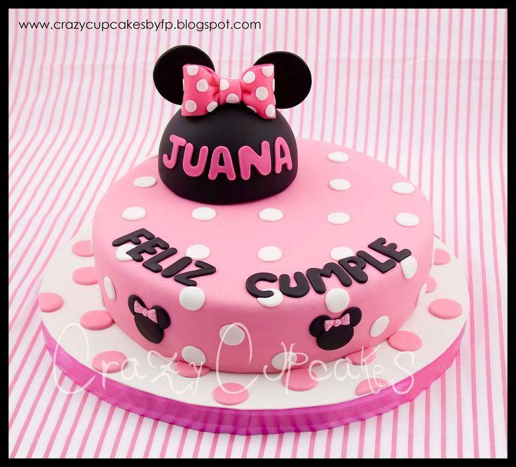 minnie mouse   Crazy Cupcakes: Torta Minnie Mouse para Juana