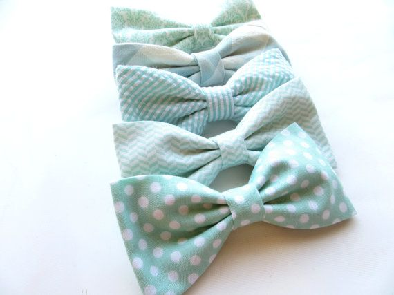Mint Bow Tie Mix And Match Coordinating by TangledTiesBowTies. I need all the groomsmen to wear them