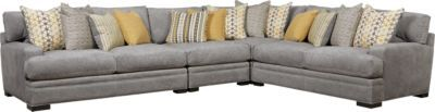 Cindy Crawford Home Palm Springs Gray 4 Pc Sectional . $2,499.99. 117W x 152.5D x 37H. Find affordable Living Room Sets for your home that will complement the rest of your furniture.#iSofa #roomstogo