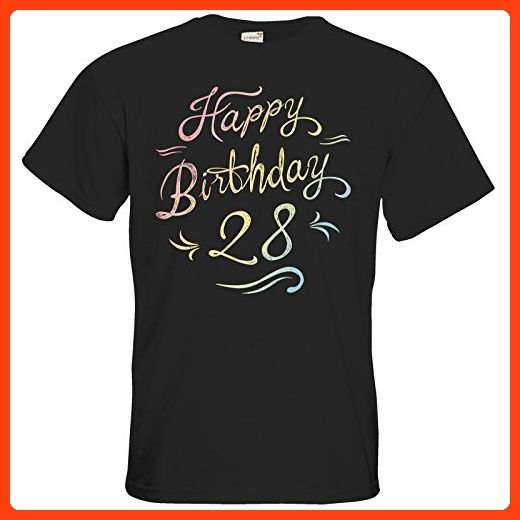 getshirts - RAHMENLOS® Geschenke - T-Shirt - Geburtstag Birthday rainbow 28 - black 5XL (*Partner Link)