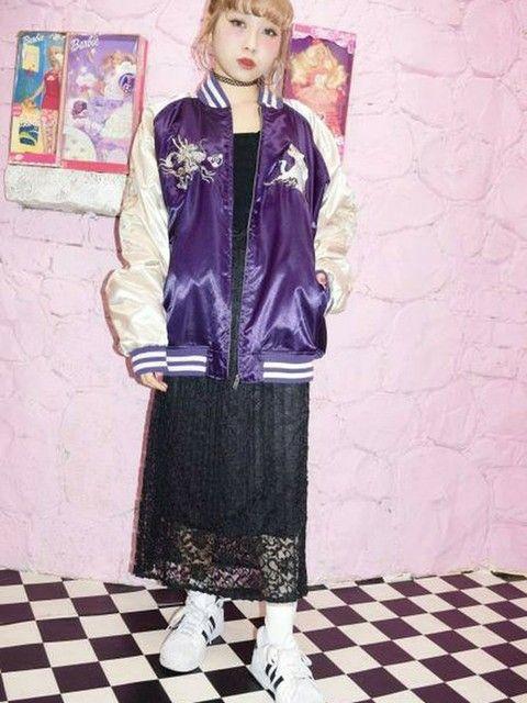 ヤンキーなスタジャン♪ 裏原系タイプのファッション スタイル参考コーデ♡