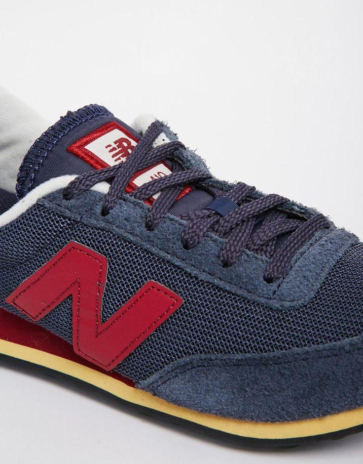 Image 4 - New Balance - 410 - Baskets en daim - Bleu marine et bordeaux