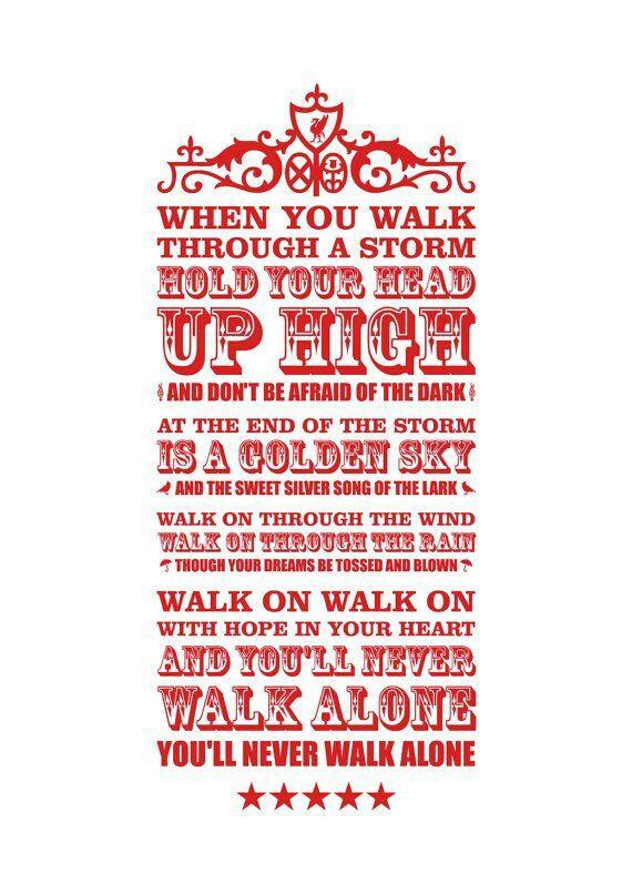 ♠ You'll Never Walk Alone #LFC #Artwork