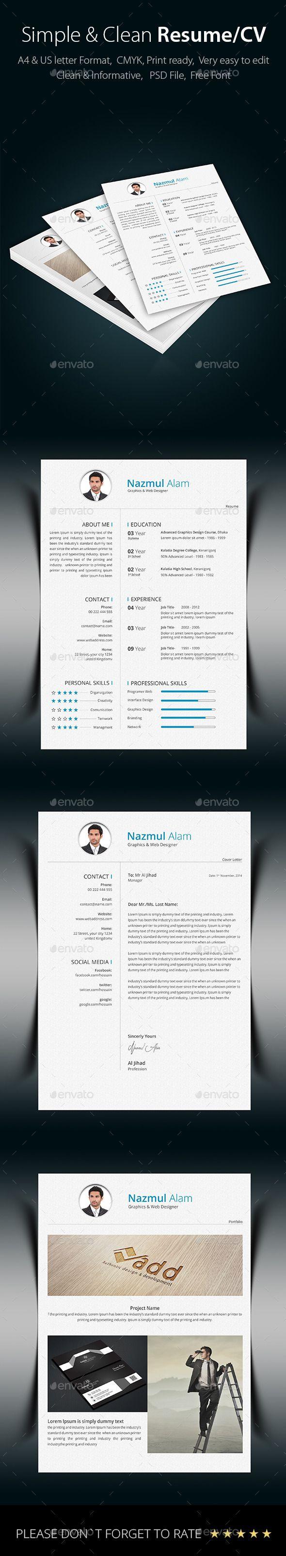 Resume Portfolio Creative Cv TemplateModern 140