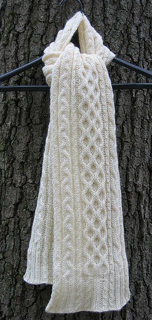 Knitted - Lupin scarf - Free pattern - Printed