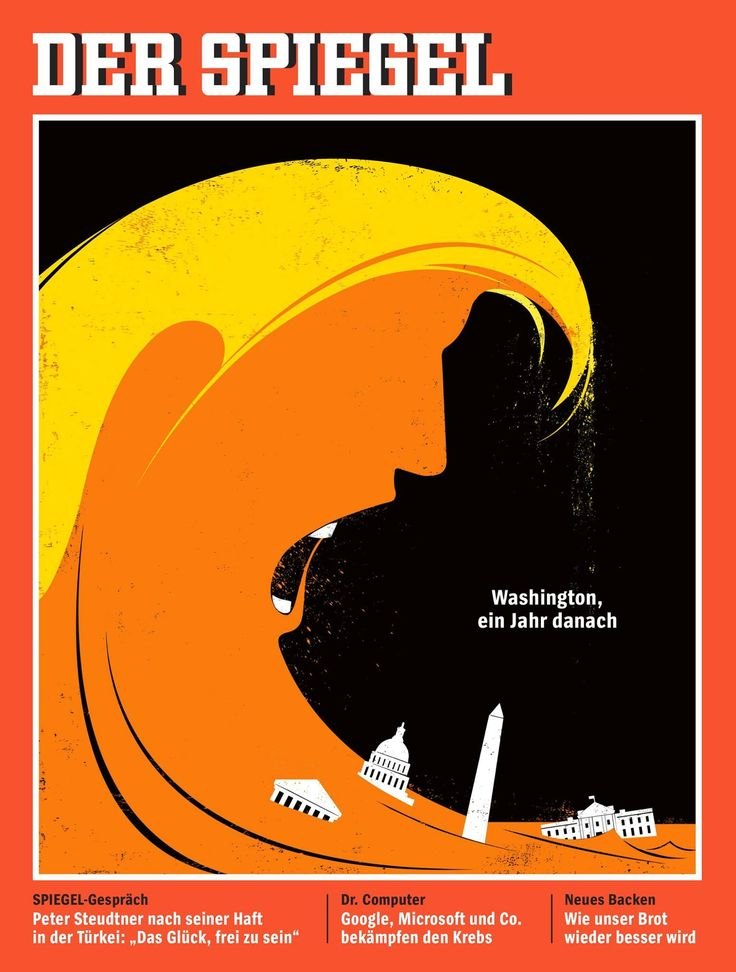 "Edel Rodriguez -""My new cover for Der Spiegel magazine, at newsstands today. ""Washington, one year later"""