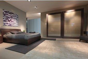 Camera da letto in legno moderna in raffinato olmo Brown 452