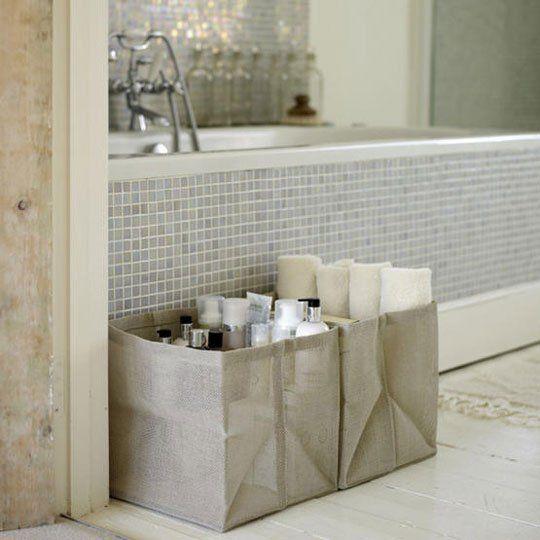 Towel Storage: Roll Them Up