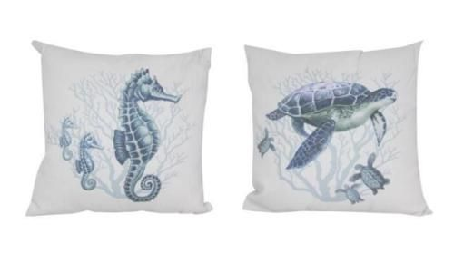 1-Pair-38x38cm-Seahorse-Turtle-Sea-Life-Beach-Themed-Cushions-Pillows