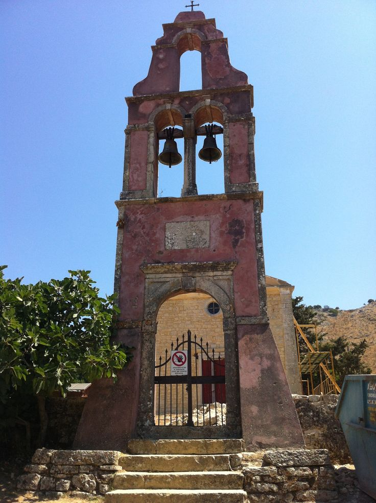 The stunning church in Corfu's oldest village, Old Perithia.
