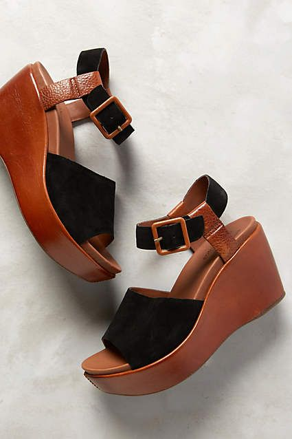 Kork-Ease Keirn Wedges - anthropologie.com Ugh I want to splurge on flat forms so I can be tall