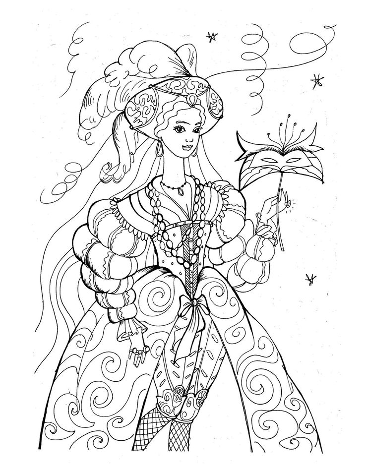 Princess Coloring Pages In Even More Styles
