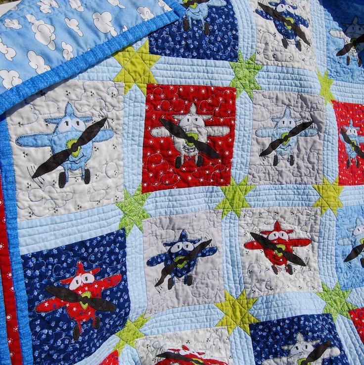 Applique Plane Baby Quilt Pdf Pattern 6 Quot Block Instant
