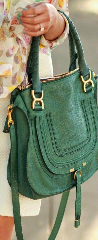 Emerald Chloe Marcie bag | LBV ?? | my style | Pinterest | Chloe ...