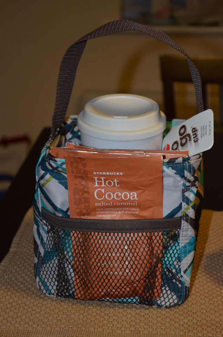 Thirty-One Littles Carry-All Caddy with On the Go Mug and Hot Cocoa, makes a perfect teacher gift!
