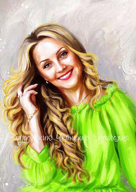 Custom Digital Portrait  Realistic Painting  Digital
