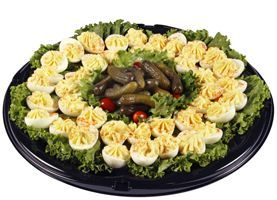 Deviled Egg Tray. Beautiful food trays at this website!