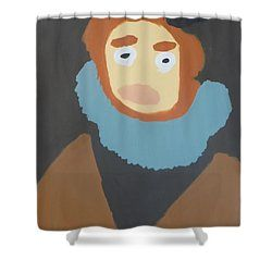 Patrick Francis - Shower Curtain featuring the painting Portrait Of Maria Anna 2015 - After Diego Velazquez by Patrick Francis