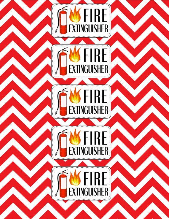 Firefighter Birthday Water Bottle Labels. $8.00, via Etsy.