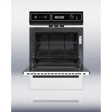 White gas wall oven with electronic ignition, digital clock/timer, and oven window. For more major kitchen appliances, visit us online at http://www.swappliances.com