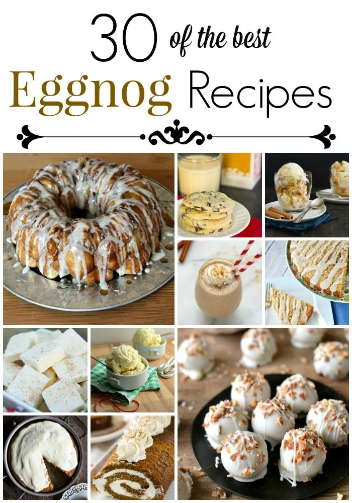 Eggnog Recipes: Get 30 of the best eggnog recipes, perfect for entertaining this holiday season!