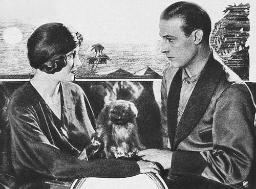rudolph valentino natacha rambova [And...dog?]