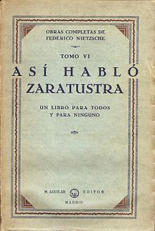 Así habló Zaratustra. Un libro para todos y para nadie de Friedrich Nietzsche