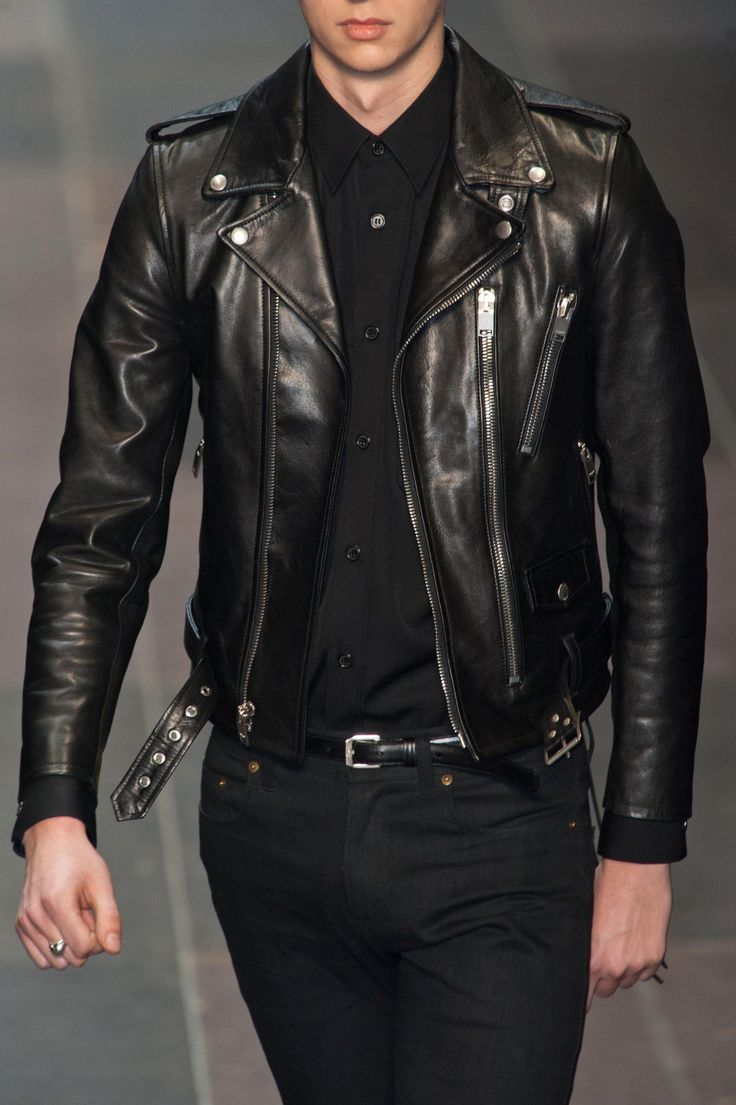 svenmcfat: monsieurcouture:  Saint Laurent F/W 2013 Menswear Paris Fashion Week   Stylish ✔️