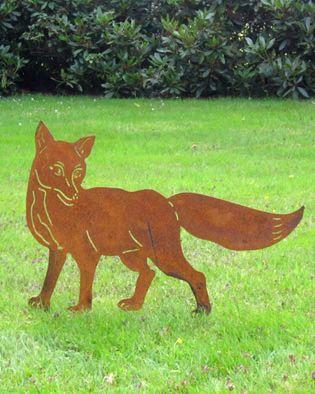 Fuchs Gartenstecker   Geschenke für Jäger/Waldtiere   Dekoschmiede.comFuchs, Gartendekoration Fuchs, Fuchs aus Metall, Gartenskulptur Fuchs  