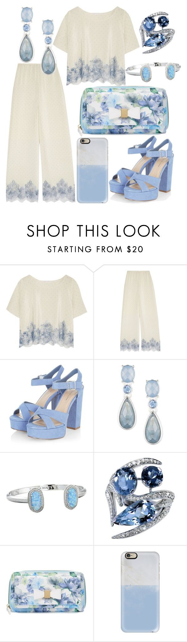 """Untitled #170"" by conformtouskids on Polyvore featuring Rosamosario, Anne Klein, Kendra Scott, Shaun Leane, Apt. 9 and Casetify"