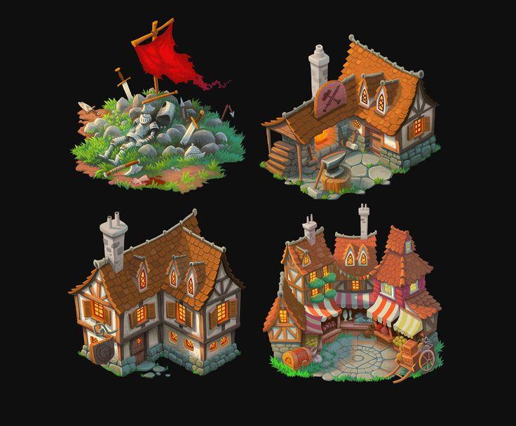 Fantasy buildings by petura.deviantart.com on @deviantART