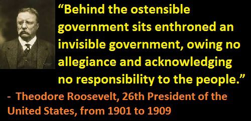 """During the last 214 years, past Presidents and political leaders have tried to warn the public that the U.S. Govt is under the control of an """"invisible Govt owing no allegiance and acknowledging no responsibility to the people.""""..  """"The HIGH OFFICE of President HAS BEEN USED to foment a plot to destroy the American's freedom, and before I leave office I must inform the citizen of his plight. We are opposed around the world by a monolithic and ruthless conspiracy.""""  John F. Kennedy"""