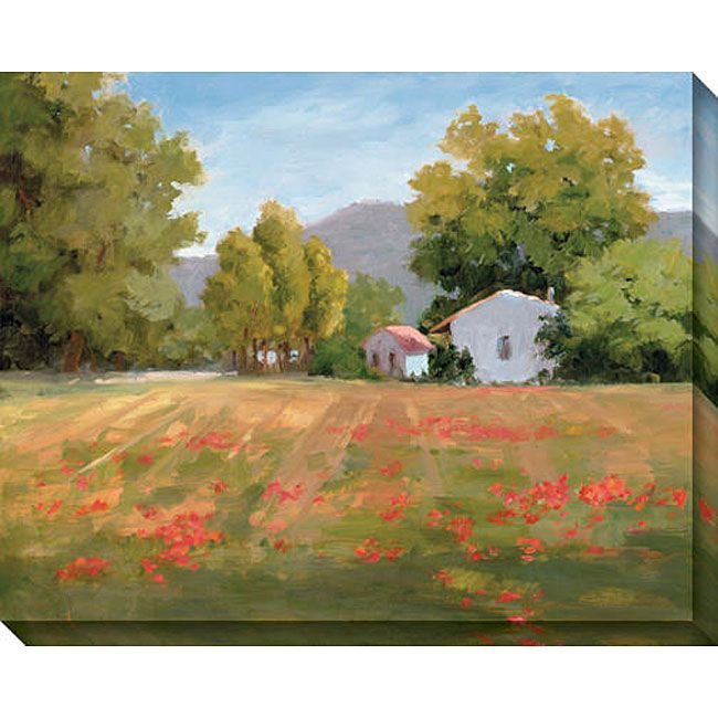 Gallery wrapped art, limited edition giclee on canvas. Comes with certificate of authenticity. Artist: Karen Wilkerson Title: Poppy Fields Product Type: Giclee canvas art Image Dimensions: 46 inches w