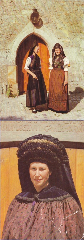 5 Vintage Costume Postcards  Thueringen  Germany  by P8iosities, €5.50
