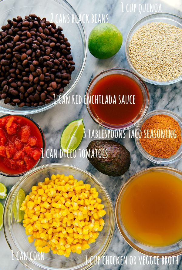 Delicious and meatless Mexican quinoa black bean tacos made easy in the slow cooker. Dump it and forget about it meal! {FREEZER FRIENDLY, GLUTEN-FREE}Say hello to your New Years' healthy eating resolutions done right.  If you happen to think that healthy can't also be one of the dang tastiest things you've ever eaten, then...