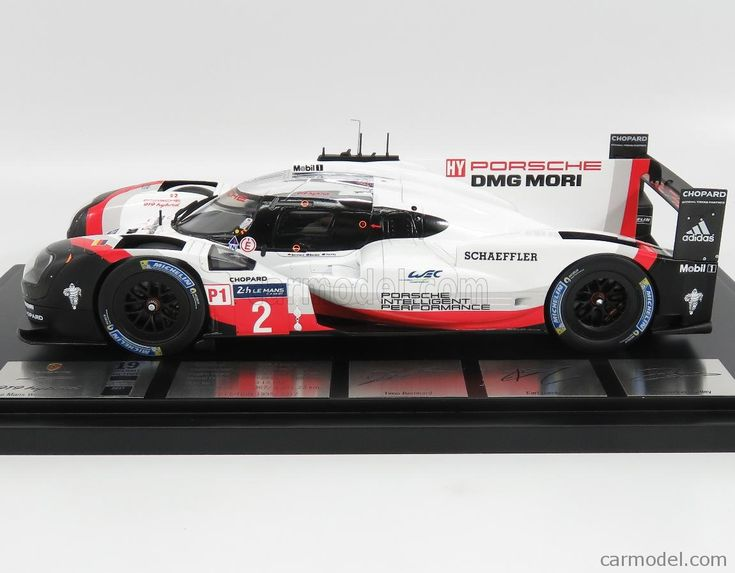 SPARK-MODEL WAP0219190J Scale 1/18  PORSCHE 919 HYBRID 2.0L TURBO V4 TEAM PORSCHE N 2 WINNER 24h LE MANS 2017 T.BRNHARD - E.BAMBER - B.HARTLEY - CON VETRINA - WITH SHOWCASE WHITE RED BLACK