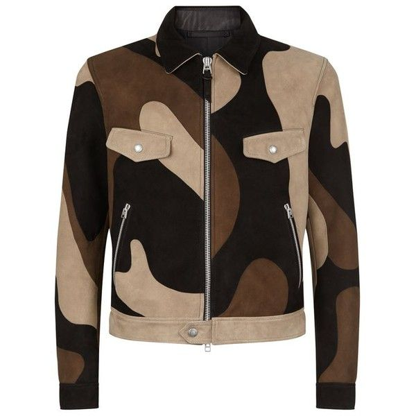 TOM FORD Suede Patchwork Camo Blouson Jacket ($7,320) ❤ liked on Polyvore featuring men's fashion, men's clothing, men's outerwear, men's jackets, mens camouflage jacket, mens suede jacket, mens suede leather jacket, mens suede bomber jacket and mens camo jacket