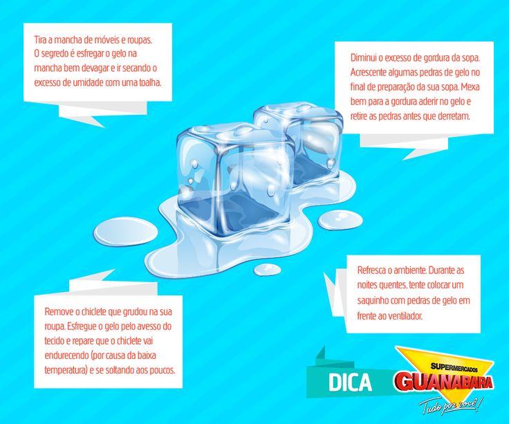 Dicas caseiras. Você sabia que gelar as bebidas é apenas mais uma função do gelo? Acompanhe aqui as 1001 utilidades dessas pedrinhas!