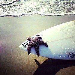 surfboard and starfish