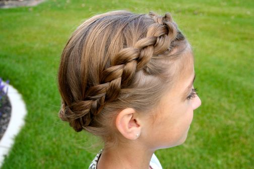 Braided Crown   Updo Hairstyles   Hairstyles, Braids and Hair Style Ideas   Cute Girls Hairstyles