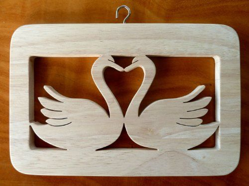 Beautiful Natural Wood Decorative 'Swans' Design Wall Plaque - Hand crafted By Andromeda! by Greg Ledder http://www.amazon.co.uk/dp/B00DGQZANM/ref=cm_sw_r_pi_dp_LHZmvb1Q4ZWZR